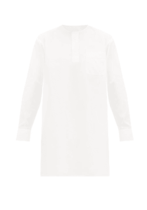 Connolly - Longline Cotton Pinpoint Oxford Shirt - Mens - White