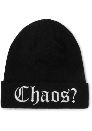 Palm Angels - Embroidered Wool Beanie - Black