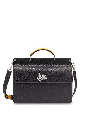 Fendi FF twist-lock briefcase - Black