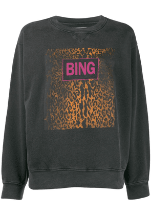 Anine Bing Ramona graphic print sweatshirt - Black
