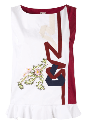 Antonio Marras embroidered tank top - White