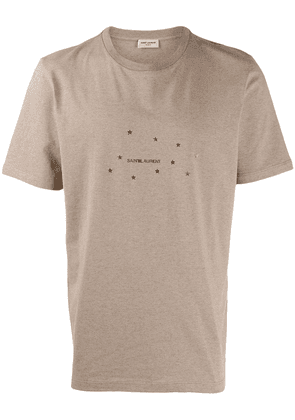 Saint Laurent star logo T-shirt - Neutrals