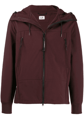 CP Company hooded zip-up jacket - Red