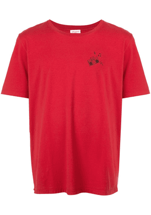 Saint Laurent speaker motif stamp T-shirt - Red