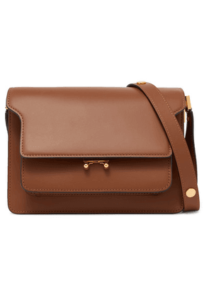 Marni - Trunk Leather Shoulder Bag - Tan