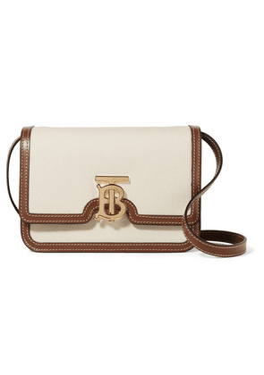 Burberry - Small Canvas And Leather Shoulder Bag - Cream