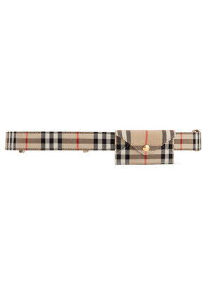 Burberry - Checked Cotton-canvas Belt Bag - Beige