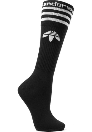 Adidas Originals By Alexander Wang - Intarsia Cotton-blend Socks - Black