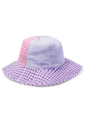 Marysia Kids - Bumby Gingham Cotton-canvas Hat - Purple
