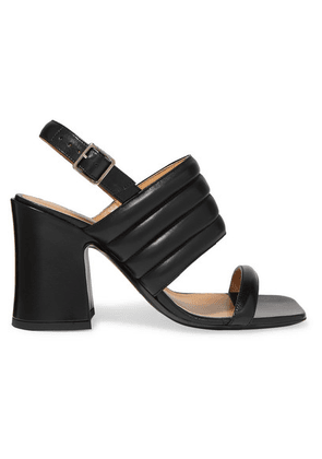 Dries Van Noten - Quilted Leather Slingback Sandals - Black