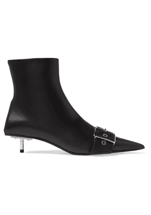 Balenciaga - Belt Leather Ankle Boots - Black