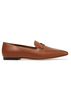 Burberry - Almerton Logo-embellished Leather Loafers - Brown