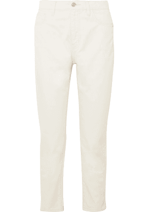 Current/Elliott - The Vintage Cropped High-rise Slim-leg Jeans - Off-white
