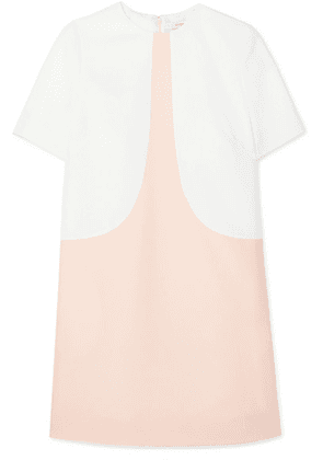 Givenchy - Two-tone Wool-crepe Mini Dress - White