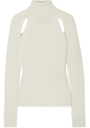 TOM FORD - Cutout Cashmere Turtleneck Sweater - Ivory