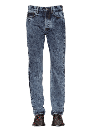 Stone Washed Cotton Denim Jeans