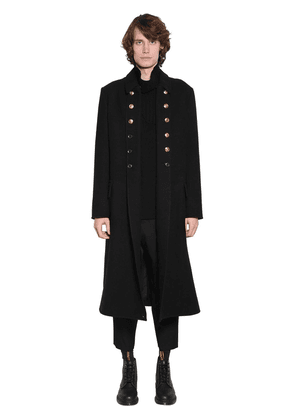 Napoleon Wool Blend Coat W/gold Buttons