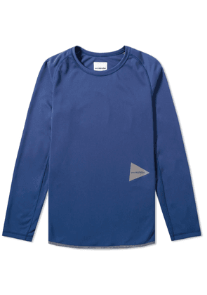 And Wander Long Sleeve Dry Jersey Raglan Tee Blue