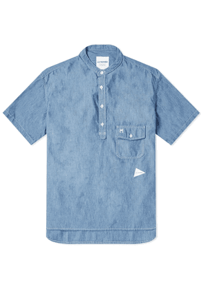 And Wander Popover Shirt Blue