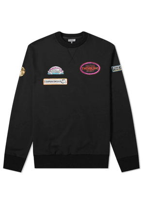 Lanvin Embroidered Logo Crew Sweat Black