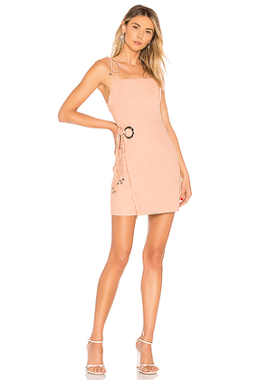 About Us Juniper Tie Wrap Dress in Blush. Size XS.