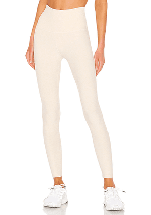 Beyond Yoga Spacedye Caught In The Midi High Waisted Legging in Cream. Size S,XS,M.