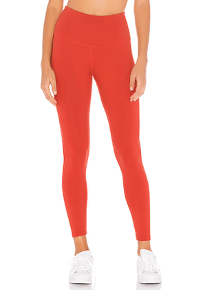 Beyond Yoga Sportflex High Waisted Midi Legging in Red. Size XS,S,L.