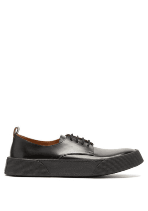 Ami - Raised Sole Leather Derby Shoes - Mens - Black