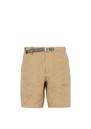 And Wander - Reflective Belted Technical Shorts - Mens - Beige