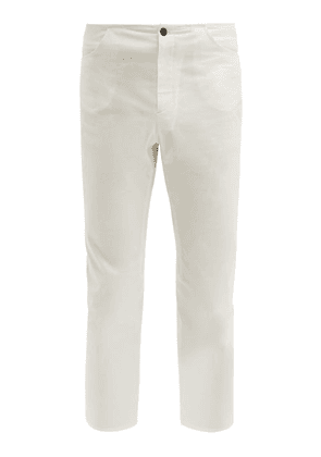 Connolly - Mariner Cropped Cotton Blend Trousers - Mens - White