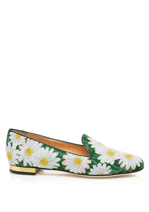 Charlotte Olympia Flats Women - DAISY MULTI COLOUR EMBROIDERED CANVAS 36