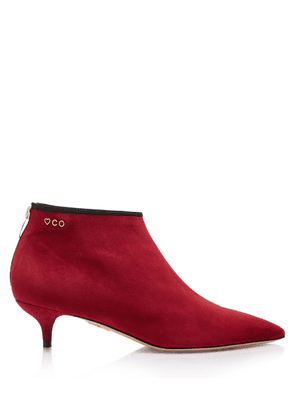 Charlotte Olympia Boots Women - SILVIA 40 BORDEAUX Suede 36