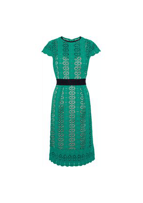 Catherine Deane Ilissa Guipure Lace Dress Woman Jade Size 8