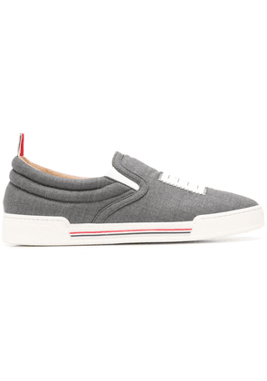 Thom Browne 4-Bar Slip-On Trainer - Grey