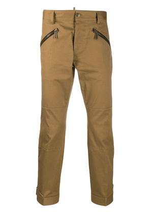 Dsquared2 cropped zip trousers - Brown
