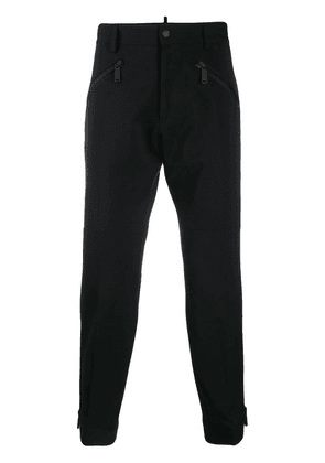 Dsquared2 cropped zip trousers - Black