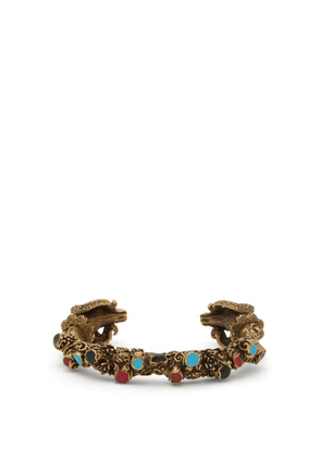 Gucci - Aries Engraved Metal And Enamel Cuff - Mens - Gold Multi