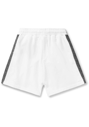 McQ Alexander McQueen - Logo-trimmed Loopback Cotton-jersey Shorts - White