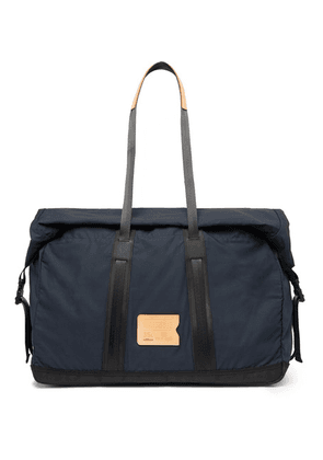Bleu de Chauffe - Baroud Leather-trimmed Ripstop Holdall - Blue