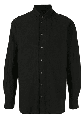 Forme D'expression ribbed detail button-up shirt - Black