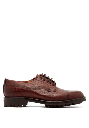 Cheaney - Cairgorm Textured Leather Derby Shoes - Mens - Burgundy
