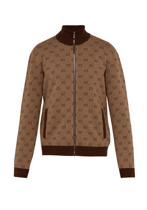 903b9712ebbc Gucci | Reversible Embroidered Wool Trench Coat | Mens | Brown ...