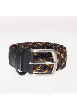 Andersons Woven Textile Belt - Gold/Burgundy/Green/Navy/Grey