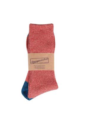 Anonymous-Ism Socks - Red with Blue Heel