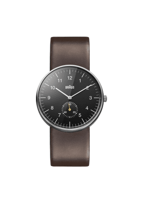 Braun Watch Classic Black Dial, Brown Leather Strap BN0024