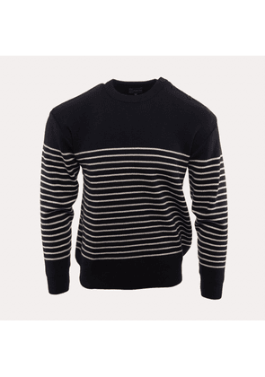 Armor-Lux Striped Sweater - Natural/Navy