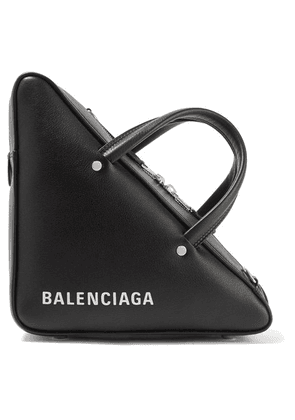 Balenciaga - Triangle Duffle Printed Textured-leather Tote - Black