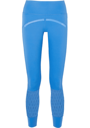 adidas by Stella McCartney - + Parley For The Oceans Training Believe This Laser-cut Stretch Leggings - Blue