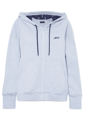 LNDR - Synergy Cotton-blend Jersey Hooded Top - Sky blue