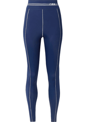 Adam Selman Sport - Racer Printed Stretch Leggings - Royal blue